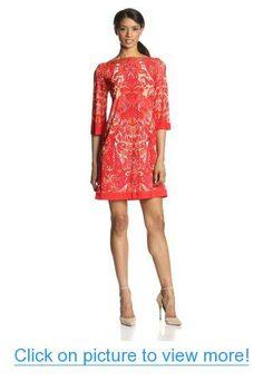 Sandra Darren Women's Elbow-Sleeve Printed Ity Dress #Sandra #Darren #Womens #Elbow_Sleeve #Printed #Ity #Dress