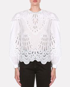 Neutral Blouses, Victorian Blouse, Cotton Blouses, Black Trim, Plus Size Tops, Designing Women, Poplin, White Lace, Ruffle Blouse