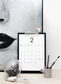 DIY for your home | Minimalistic RK Design calendar