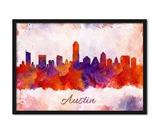 Austin City Skyline, Texas Abstract Watercolor Wall Décor Collectible Art Print, 360 Condominiums Tower Wall Hanging Home Décor #AustinCity #AustinSkyline #SkylineAbstract #Watercolor #WallDécor #WallHanging #360CondominiumsTower #HomeDécor https://www.amazon.com/dp/B01N46IHC0/ref=cm_sw_r_pi_dp_x_zlxoybW4K6QQE