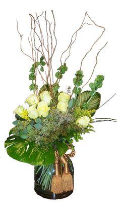 Green Rose Arrangement   Sugar Land TX   Nora Anne's Flower Shoppe
