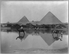 Egypt A print of a village during floods in the 1890s.