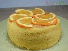 Bizcocho de naranja esponjoso al microondas
