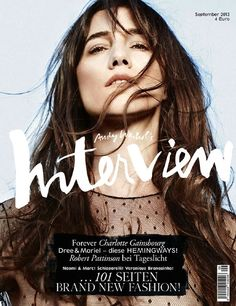 Interview Magazine. Awesome type.