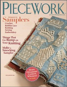 PieceWork Magazine July/August 2010 - featuring crochet samplers
