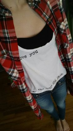 My ootd.  Shirt: brandy Melville flannel: forever 21 bandeau: brandy Melville jeans: pacsun xoxo kyra
