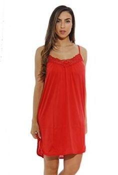 1520C-S-Red-Dreamcrest-Nightgown-Womans-Pajamas-Women-Sleepwear-0