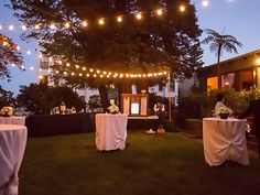 String lighting by Love in the Mix, San Francisco Bay Area.