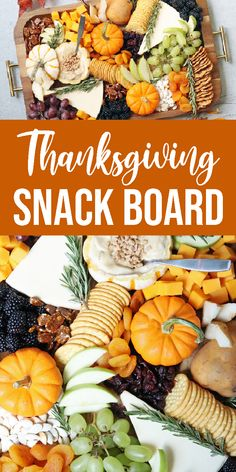 Make this Thanksgiving Snack Board for your holiday entertaining. Sweet and savory snacking option for your guest with this snack board. #snackboard #foodtray #tray #party #holiday #thanksgiving #recipe #fruit #cheese #nut #dip