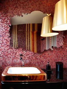 Tendance salle de bain : glamour incendiaire - Châtelaine