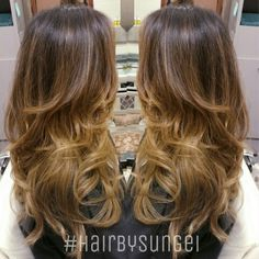 Colormelt balayage sombre ombre asian hair