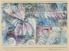 Paul Klee  'Pflanzen bild 8.b' (Plant Picture 8.b)  192 5  Watercolor and chalk on paper  6.5 x 9.3""