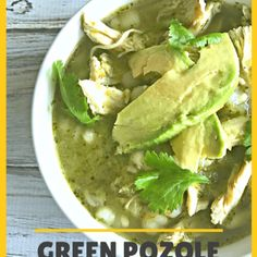 Green Pozole with Chicken – Famous Last Words Freezer Cooking, Freezer Meals, Cooking Tips, Cooking Recipes, Freezer Recipes, Green Chicken Pozole Recipe, Green Pozole, Mexican Dinner Recipes, Mexican Desserts