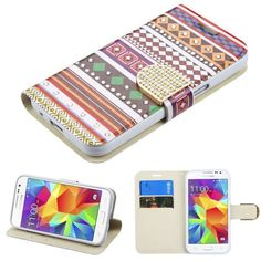 Insten / White Ethnic Customs Leatherette Case Cover with Stand For Samsung Galaxy Core Prime/ Prevail Boost Mobile