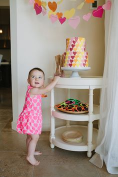 This 1st birthday party would make a great baby shower!