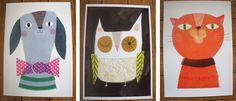 Sarah Dyer   Fab dog, owl and cat