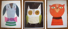 Sarah Dyer   Fab dog, owl and cat