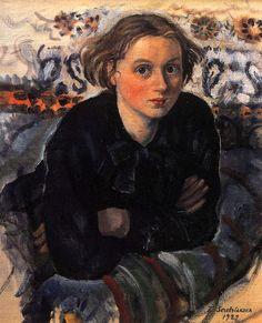 Portrait of Daughter Katya by Zinaida Serebriakova - 1929