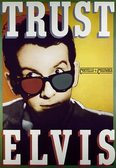 Paula Scher. Poster created to promote the US release of Elvis Costello's album