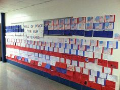 WOW ~ Veterans Day Hall Display