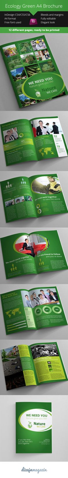 Free Nature Brochure A4 Format – InDesign Template | VrbicPlay - Creative studio