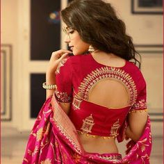 Silk sarees are so advanced in themselves yet the magnificence is nearly multiplied when they are combined up with silk saree blouse designs. Today silk saree blouse designs hold more significance than just getting paired Indian Blouse Designs, Blouse Back Neck Designs, Silk Saree Blouse Designs, Fancy Blouse Designs, Bridal Blouse Designs, Silk Sarees, Saree Blouse Patterns, Latest Blouse Designs, Traditional Blouse Designs