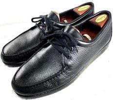 a927204e93d7b SAS Handsewn Amigo Black Oxford dress Pebbled Leather Shose Mens Size 13 N