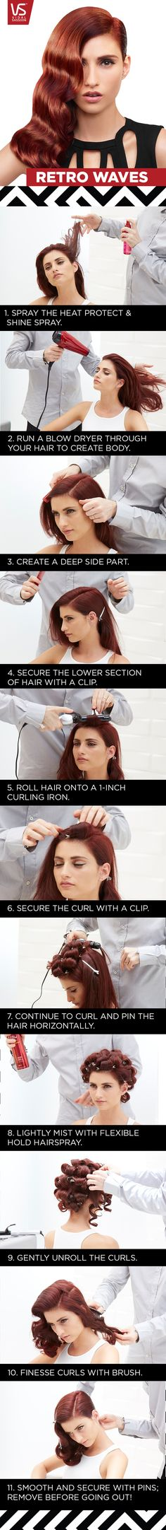 Hair Tutorial: Recreate this dreamy vintage-inspired wave with tips from Vidal Sassoon expert stylist Michael Forrey.