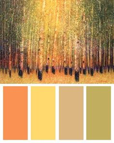 Brilliant Nature Color Palette (Aspen Glow art print by Gary Max Collins)