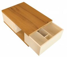 Practical coffee table with drawers