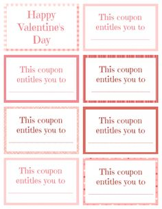 Printable Valentine Coupon Book Blank