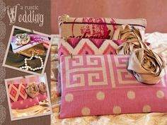 A Rustic Wedding with Fabric.com: Bridesmaid Clutch with Tattered Rose | Sew4Home