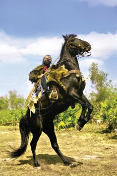 Swamp Owl and his beloved Florida cracker horse, Smokee, participate in Seminole War reenactments throughout the South