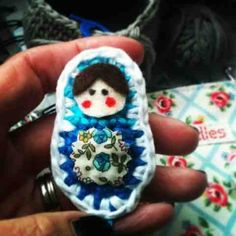 free Matryoshka brooch pattern from Annaboo's House