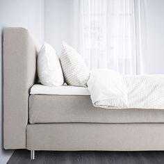MJÖLVIK Divan bed - Hyllestad firm, Tussöy beige - IKEA Mattress Springs, Mattress Pad, Mattress Covers, Bed Base, Beige, Double Beds, Linen Bedding, Bed Pillows, Bedroom
