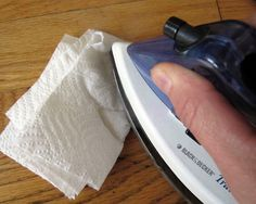 How to fix little dents in wood floors and furniture with an Iron!