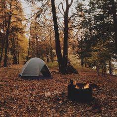 fall camping.
