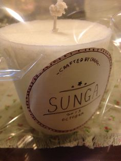 Pam wax candle.