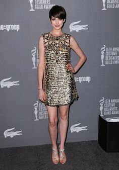 Anne Hathaway at the 15th Annual Costume Designers Guild Awards (Jordan Strauss/Invision/AP)