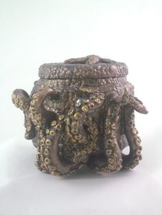 Octopus Jar ~ polymer clay - pinned by pin4etsy.com