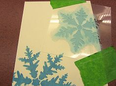 Snowflakes 3 pc kit Stencils.  See more Holiday Stencils: http://www.cuttingedgestencils.com/christmas-stencils-valentine-halloween.html