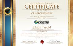 Certificate Klaus Fa