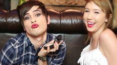 Kalel Cullen does Anthony Padilla's makeup!!! WonderLandWardrobe, Kalel Kitten, WatchUsLive&Stuff