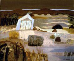Ann Wegmuller RSW RWS, Scottish Artist: Archive Oils Boat House at the Loch End | Private Collection Contemporary Landscape, Landscape Art, Landscape Paintings, Landscapes, Paintings I Love, Seascape Paintings, Scottish Women, English Artists, Boat House