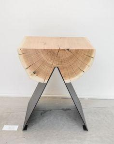Side table or magazine holder upside down