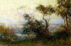 Crépuscule, huile sur toile de Frederick Mccubbin (1855-1917, Australia)