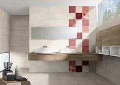 Elegantní koupelna Maison v šedém odstínu, doplněná o výrazný dekor. Formát 25×75 cm. www.mbkeramika.cz Decor, Furniture, Bathroom Lighting, Home, Lighted Bathroom Mirror, Bathroom Mirror, Bathroom, Sink, Mirror