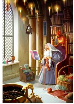 """I do love knitting patterns."" - Albus Dumbledore  ( Artwork by: yaoyaoartblog.tumblr.com )"