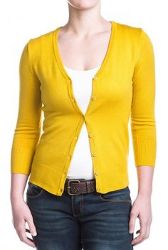 Type 3 Honey Mustard Cardigan - $32.97