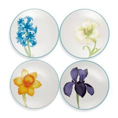 Check out this product! http://www.bedbathandbeyond.com/store/product/noritake-reg-colorwave-floral-appetizer-plates-in-turquoise-set-of-4/1040258621